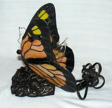 Quoizel Butterfly Night Light Lamp Electric W/ Rose Metal Base Monarch