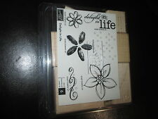"neuf, Stampin UP, lot de 6 tampons ""delight in Life"" NEW"