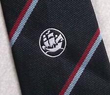 LIGHT & Boston nave motivo Tie Retrò Vintage Crest Nautica Nero 1970s 1980s