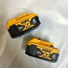 Dewalt Lote de 2 20 Voltios Litio DCB204 nueva batería de 4.0 amperios w combustible Gage DCB204-2
