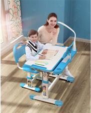 Girls Boys Study Desk Chair Set Height Adjustable Writing Table Desk W/ Lamp New