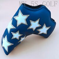 New Golf Blue Putter Cover Magnetic Star Head Cover for Taylormade Pxg Blade