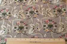 "Antique French 18thC Lavender Floral Silk Brocade~L-18""X W-17"""