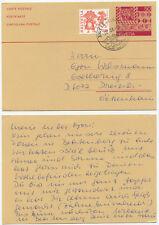 32171 - Schweiz - Ganzsache ZuF - Postkarte - Beatenberg 22.3.1984 nach Dreieich