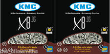 PAIR KMC X8.93 MTB Hybrid Road Bike 7 8 Speed Chain fit Shimano SRAM Campagnolo