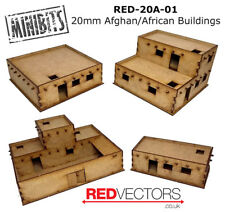 RED-20A-01 - 20mm Wargames - Afghan/African Buildings, Set A (4 buildings)