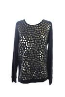 Kensie New Black Gold Long-Sleeve Sweatshirt S $69