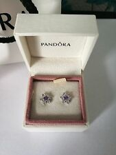 genuine s925 forget me not silver earrings pandora collection