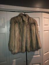 Silver Fox Fur Coat MEASUREMENTS IN LAST PICTURE