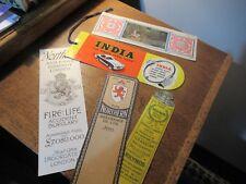5 Vintage Collectable Paper advertising bookmarks, ephemera, Kolynos, India T