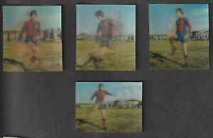 NABISCO Shredded Wheat Football Demonstrates Johan Cruyff BARCELONA  SET of 4