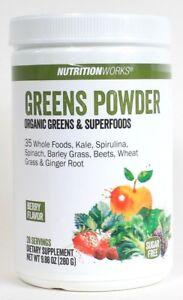 NutritionWorks 9.88 Oz Berry Flavor 28 Serv Organic Greens & Superfoods Powder