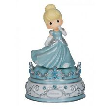 ♫ New PRECIOUS MOMENTS DISNEY Musical Figurine CINDERELLA Music Box PRINCESS