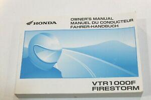 HONDA Livret Utilisation et Entretien Pour VTR1000F Firestorm 2000