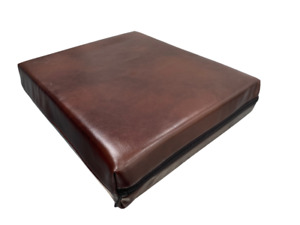 Deep Pressure Relief Memory Foam Cushion Seat Pad CHOCOLATE soft faux leather