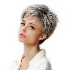 Women Silver Gray Heat Resistant Short Bob Cosplay Straight Hair Wig Wigs