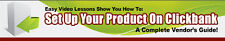 How To Set up Your Product On Clickbank- Videos on 1 CD