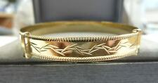 New 9ct Solid Gold Ladies Expanding Patterned Bangle 7.5 grams