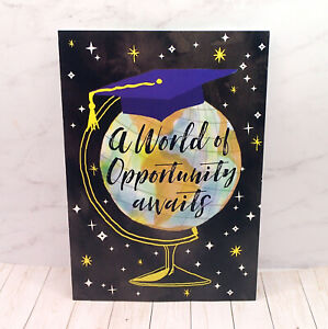 Graduation Greeting Card A WORLD OF OPPORTUNITY AWAITS Globe