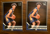 (2) 2019-20 Panini Clearly Donruss Jaxson Hayes RC Acetate Rookie Lot Pelicans