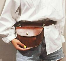 Bag Female Belt Fashion Leather Pouch Fanny Pack Leather Women Waist Pack Solid