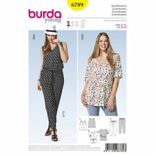 Burda Sewing Pattern 6789 Women's 16-28 Shirts Tops Tunics Pull On Pants
