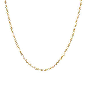 Rose and Yellow Gold-Filled Rollo Chain Necklace Pendanet 16'',18'' Width 1.4 MM
