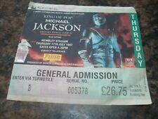 1997 Michael Jackson History World Tour London Wembley Stadium Ticket
