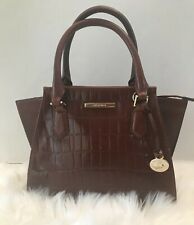 Brahmin Mini Priscilla Cognac Hawthorn Genuine Leather Rare NWT $345