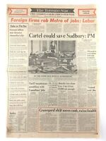 Vintage October 22 1977 Toronto Star Front Page Newspaper Save Sudbury K769