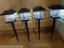 4 x jardin solaire POWERED lanterne poste enjeux light / Clôture / Arbre / disque