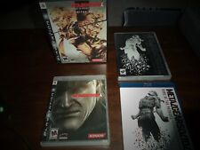 METAL GEAR SOLID 4: GUNS OF THE PATRIOTS LIMITED EDITION FOR PLAYSTATION 3 PS3!