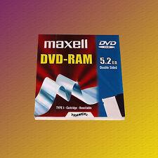 Maxell DVD-RAM 5,2 GB Double Sided Type I Rewritable, Data Cartridge, NEU & OVP