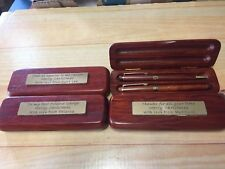 Personalised Engraved Boxed Timber Pen Set. Gift  Award Trophy FREE POSTAGE