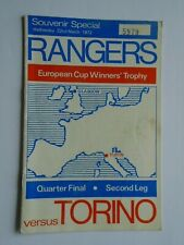 More details for rangers v torino 1971/72 cup winners cup