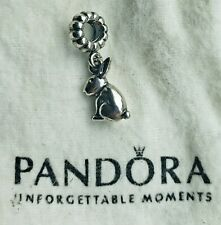 Authentic Pandora Dangle Bunny Rabbit 791101 Easter Charm Preowned