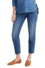 NEW Madewell Maternity Side Panel Classic Straight Jeans - AJ228 - Blue - 23