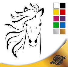 Aufkleber Sticker Autoaufkleber Auto Pferd Pferdekopf 10 x 14,5 cm