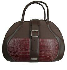 Samsonite Black Label Brown McQueen Women's Boarding Bag Leather Canvas