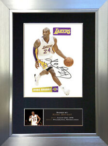 KOBE BRYANT Lakers Signed Autograph Mounted Photo Reproduction A4 Print 777