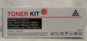 Compatible Dell C1760nw C1765nfw 1250c C1765nf 1350cnw Black Toner Cartridge