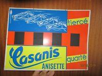 Ancienne Plaque Publicitaire Casanis Anisette apéritif Tiercé déco bar bistrot
