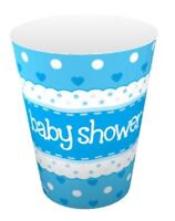 16 X BOYS BLUE PAPER CUPS 266ml BABY SHOWER PARTY TABLEWARE CELEBRATION
