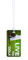 Lewis N. Clark Luggage Tag, Live to Golf