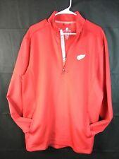 Nwot Detroit Red Wings Hockey Long Sleeve Pullover Jacket 1/4 Zip Size L