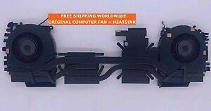 """HP ZBOOK FURY 15 G7 15.6"""" M17046-001 CPU & GPU Cooler Fans Heatsink"""