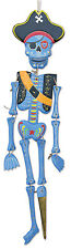 Fair Trade Day of the Dead Blue Pirate Hanging Mobile Handmade Painted Ethical