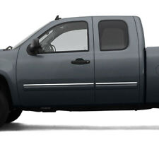 Side Molding Trim for 07-13 GMC Sierra Extended Cab (Stainless Steel 4pc Upper)