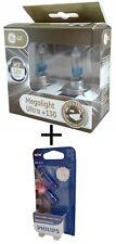 H7 GE MegaLight Ultra +130% mehr Licht 2st. 58520XNU + W5W Philips White Vision