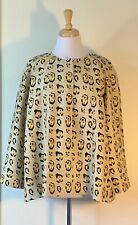 Giambattista Valli Size 48 XL 100% Silk Leopard Print Jacket 3/4 Length Sleeves